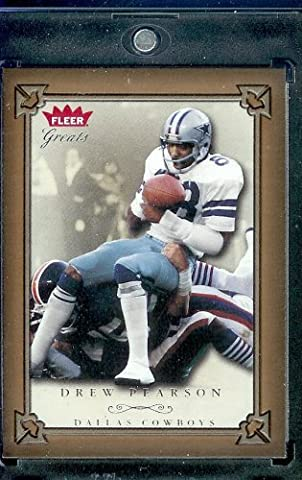 2004 Fleer Greats of the Game Football Card # 68 Drew Pearson Dallas Cowboys -Mint Condition - Shipped In