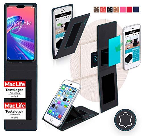 Hülle für Asus Zenfone Max Pro m2 ZB631KL Tasche Cover Case Bumper | Schwarz Leder | Testsieger