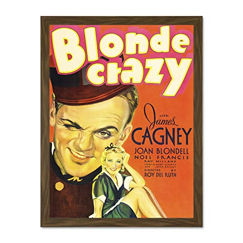 Doppelganger33 LTD Movie Film Blonde Crazy James Cagney Comedy Crime Drama Large Framed Art Print Poster Wall Decor 18x24 inch Supplied Ready to Hang -
