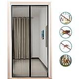 Binwo Magnet Fliegengitter Tür Insektenschutz 100 x 210 cm, Fliegenvorhang Moskitonetz Magnet Vorhang Geeignet für Balkontür Wohnzimmer, der Haustür und der Hintertür, Klebmontage ohne Bohren
