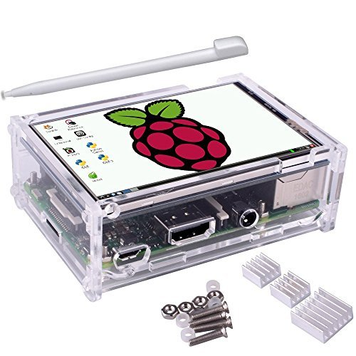 51iOWiKBhUL - Kuman 3.5 inch pantalla LCD 320*480 Resolution Touch Screen TFT LCD Display With Protective Case + 3 x Heat sinks+ Touch Pen for Raspberry Pi 3 Model B, Pi 2 Model B & Pi Model B+ SC11