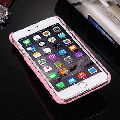 Phone case & Hülle Für iPhone 6 / 6s, Weihnachtshut Plüsch Tuch Abdeckung PC Schutzhülle ( Color : Pink ) Pink