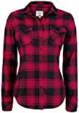 Brandit Amy Flanell Checkshirt Girl-Hemd Schwarz/Rot - S
