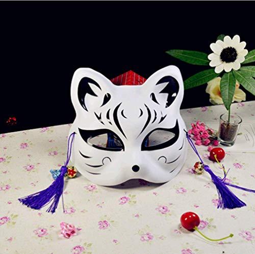 Kostüm Kinder Glühwürmchen - VAWAA Cosplay Anime Das Licht Der Glühwürmchen Wald Fuchs Maske Halloween Fuchs Katze Gesicht Exquisite Mode Geschenk