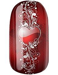 Nagelfolien/Heartache selbstklebend mit individuellen Designs by Glamstripes- made in Germany. 12 Nail Wraps äußerst strapazierfähig mit langer Haltedauer