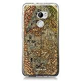 CASEiLIKE® HTC X10 Hülle, HTC X10 TPU Schutzhülle Tasche Case Cover, Weltkarte Weinlese 4608, Kratzfest Weich Flexibel Silikon für HTC One X10