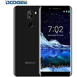 Telefonia Mobile, DOOGEE X60L Dual SIM Free 4G Smartphone In Offerta nuovi (18: 9 Schermo intero) - 5.5 Pollici HD Schermo Cellulari Android 7.0 - MT6737V 2GB RAM+16GB ROM Telefono - Dual 13.0MP + 8.0 MP Fotocamera Digitale - 3300mAh - Nero