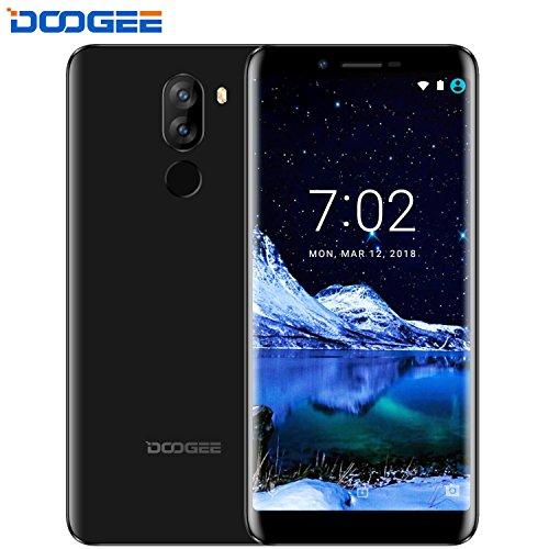 Moviles Libres Baratos, DOOGEE X60L Dual SIM Smartphone Libre Barato 4G, Android 7.0 Telefonos, 5.5 Pulgadas HD IPS Display (18: 9 pantalla completa) y MT6737V Quad Core Movil, 2GB RAM + 16GB ROM, 13.0MP + Cámaras Traseras Duales 8.0MP, Batería grande 3300mAh, Negro