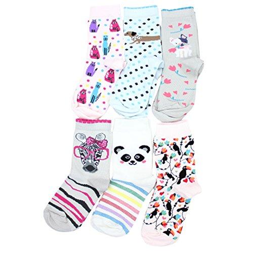 TupTam Unisex Baby Socken Bunt Gemustert 6er Pack, Farbe: Mädchen 4, Größe: 27-30 (Pack Mädchen-socken)