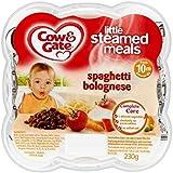 Vache Et Porte Peu Cuit À La Vapeur Repas Spaghetti Bolognese 10M Partir 230G - Lot De 2