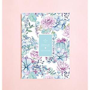 Aquarell-Saftige und Kaktus linierte Notizbuch   Romantik • Schreibtagebuch • Notizbuch für Schriftsteller-Geschenk • Tagesplaner • Großes Notizbuch • Das Notizbuch • Zurück zu Schule • Kind-Notizbuch