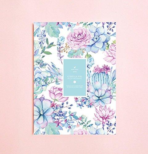 Aquarell-Saftige und Kaktus linierte Notizbuch | Romantik • Schreibtagebuch • Notizbuch für Schriftsteller-Geschenk • Tagesplaner • Großes Notizbuch • Das Notizbuch • Zurück zu Schule • Kind-Notizbuch