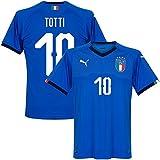 Italien Home Trikot 2018 2019 + Totti 10 (Fan Style) - M