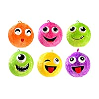 Toi-Toys 60860-Fuzzy Cozy Inflatable Face Ball, 40cm