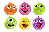 Toi-Toys 60860 - Kuschelige aufblasbare Gesicht-Ball Fuzzy, 40 cm