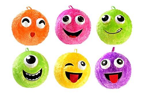 Toi-Toys 60860 Kuschelige aufblasbare Gesicht-Ball Fuzzy, 40 cm