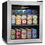 Subcold Super50 LED – Mini Fridge Black | 50L Beer, Wine & Drinks Fridge | LED Light + Lock and Key | Low Energy A+ (Stainless Steel)