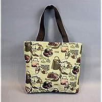 Preisvergleich für Yudanwin Leinwand-Lunch-Tasche Student Lunch Bag Cartoon Lunch Box Tasche Picknick Tasche (dreizehnten)