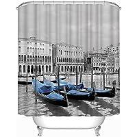 GYMNLJY 3d acqua paesaggio barca a vela blu stampa poliestere impermeabile tenda doccia vasca doccia ombra per bagno 180 * 180cm , 180*180