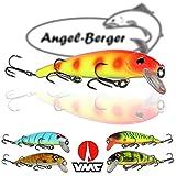 Minnow Fighter Wobbler Angel Berger Hardbait verschiedene Farben (Orange Shiner)