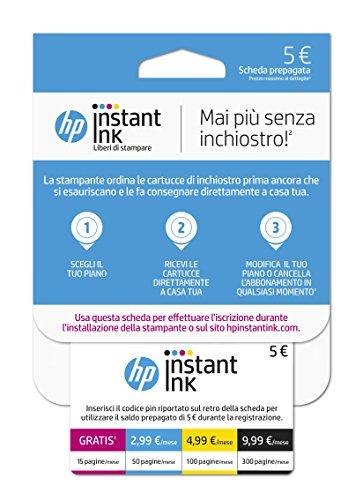 HP Instant Ink, Scheda Prepagata per iscrizione al servizio HP Instant Ink
