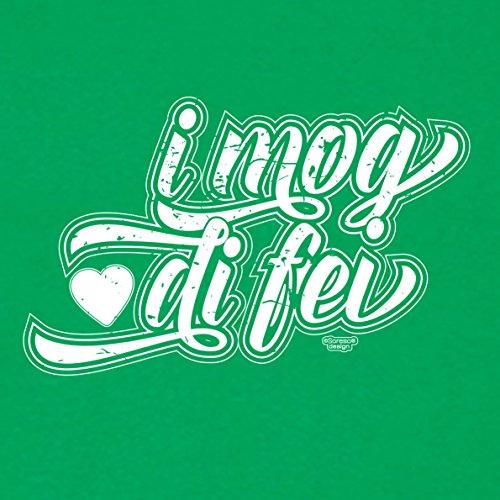 Modisches Oster-Geschenk / T-Shirt für Männer mit Print Aufdruck: I mog di fei Farbe: hellgrün Hellgrün