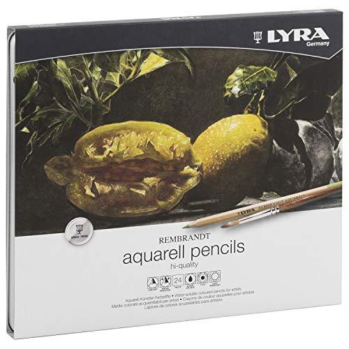 LYRA-Rembrandt Aquarell Lápices, 24 Unidades, Color Estuche metálico, (2011240)