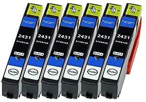 6cartucce XL solo nero sostituiscono Epson n. 24X L T2431adatto per esempio per Epson Expression Photo XP 55, Photo XP 750, Photo XP 760, Photo XP 850, XP 860, Photo XP 950, Photo XP 960