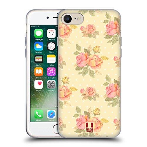 Head Case Designs Frühling Nostalgische Rosenmuster Soft Gel Hülle für Apple iPhone 4 / 4S Vorgeschmack Auf Den Sommer