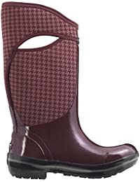 Bogs Plimsoll Houndstooth Tall - Botas para Mujer