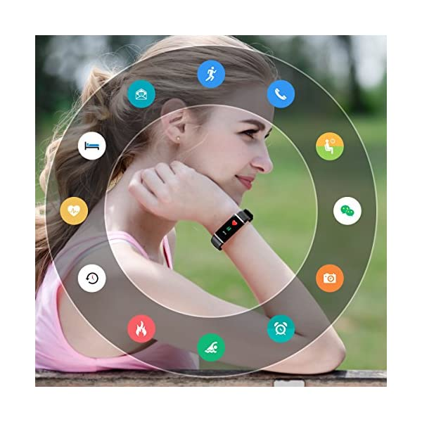 CHEREEKI Pulsera Inteligente IP68, Fitness Tracker Pantalla Color Bracelet… 8