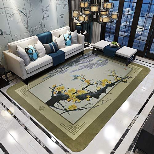 Fishroll Chinesischer Stil Kunst Teppich Chinesischen Stil Wohnzimmer Einfache Moderne Schlafzimmer Couchtisch Nachttischdecke Rechteck (Farbe: Tan, Größe: 180CMX280CM) Area Rug - Rechteck, Tan Teppich