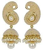 Jewels Gehna Antique Gold Plated Jhumki ...