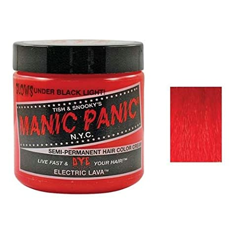 MANIC PANIC Cream Formula Semi Permanent Hair Color Electric Lava