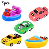Joyibay 5 Stück Baby Bad Auto Spielzeug Bad Schwimmendes Spielzeug Lustiges Auto Boot Badewanne Spielzeug für Kleinkind
