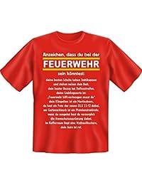 Rahmenlos t-shirt que les signes de son könntest pompiers -  Rouge - Large