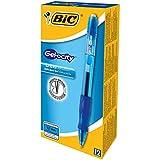 BIC Druck-Gelroller Gel-ocity Gel, 0,7 mm, nachfüllbar, Schachtel à 12 Stück, blau