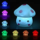 Ifly Online 7 couleurs Creative Led Mushroom Night Light Gradient souple avec bouton Batterie Fête de Noël Decor Manufacturer: Ifly Online