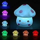Ifly Online 7 colores Creative LED luz de noche Seta, suave degradado con pila de botón fiesta de...
