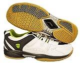 ProASE All Surface Non Marking Unisex Badminton Court Shoes, White/Black- 10UK