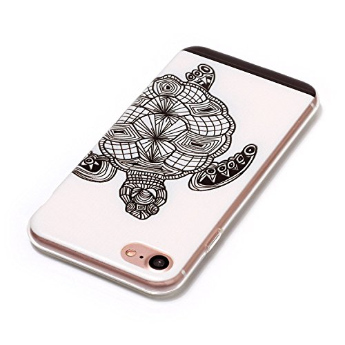 iPhone 7 Coque, Voguecase TPU avec Absorption de Choc, Etui Silicone Souple Transparent, Légère / Ajustement Parfait Coque Shell Housse Cover pour Apple iPhone 7 4.7 (tortue)+ Gratuit stylet l'écran a tortue