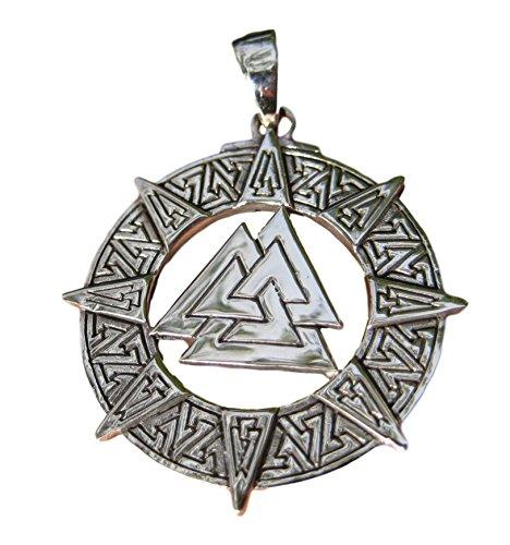 925-argento-valknut-triquetra-triangolo-norse-viking-celtico-odin-ciondolo-collana