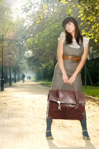 Borsa over-size per portatile in pelle di Catwalk Collection