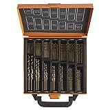 VonHaus Set di Punte da Trapano in Cobalto 99pz - Materiali duri da forare incluso lega di titanio, acciaio inox, cemento, plastica e legno - Custodia inclusa