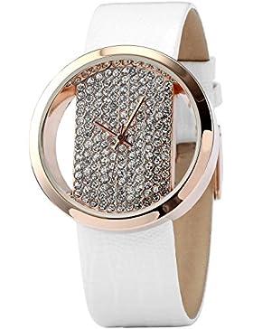 AMPM24 Leder Armband Uhr Transparent groß Damen Uhr Trend Damenuhr