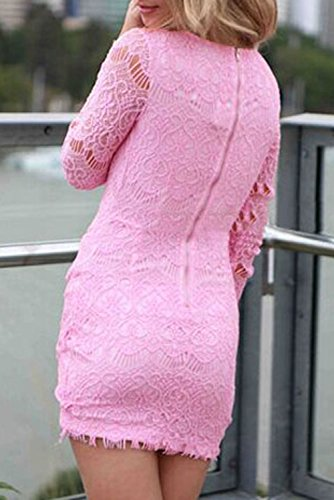 Dissa® femme Rose SY21728-2 mini robe Rose