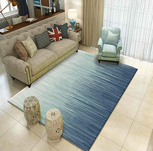 Teppich Klassik Wohnzimmer Dekor Chic Streifen Print Tea Room Lounge Komfort Polyester Mat 140cmx200cm -