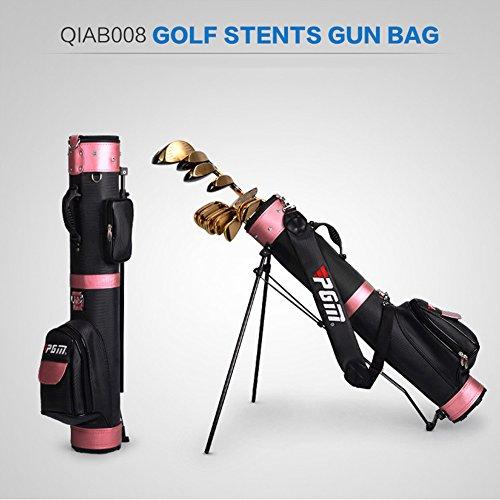 PGM Golf Stents Unterstützung Staubbeutel ----- Große Kapazität, können Halt Komplette Sets of Golf Clubs # qiab008, Black-pink