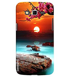 Omnam Beautiful Scenery With Sun And Flowers Printed Designer Back Cover Case For Samsung Galaxy Grand 2