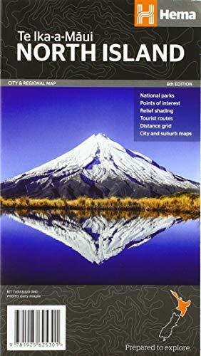 North Island - New Zealand 1:1 000 000: Übersichtskarte